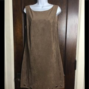 Jessica Howard Sz 12 Taupe micro Ultra suede Dress
